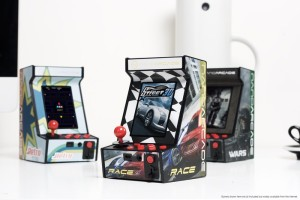 The Nanoarcade measures only about 6 inches tall.