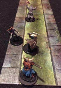 Players chase down the guy who stole the orb.